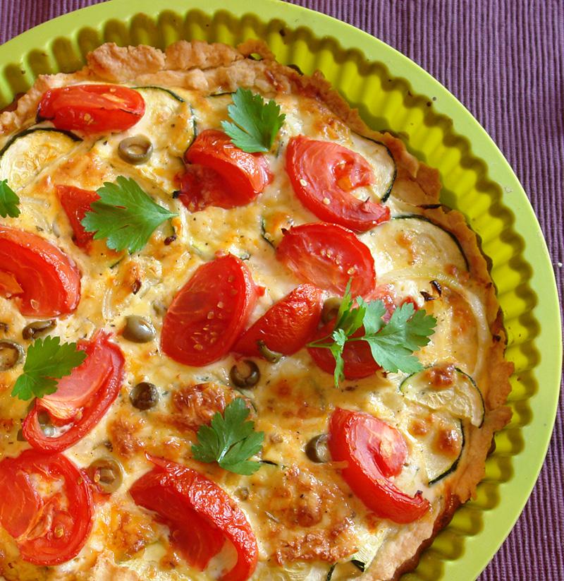 tarta con verduras